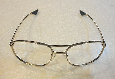 U.S. AIR FORCE ISSUE AIRCREW GOLD EYEGLASS FRAMES - 52mm LENS SIZE - NEW IN PKG
