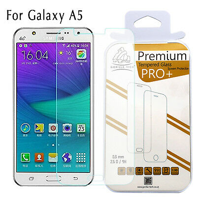 New 100% Genuine Gorilla Tempered Glass Film Screen Protector Samsung Galaxy A5