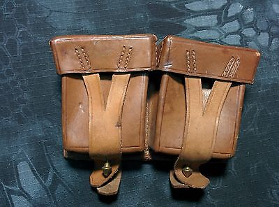 Authentic Russian Soviet army, Mosin Nagant leather ammo pouch, 1950