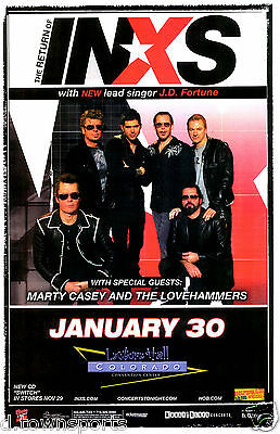 The Return of INXS Tour 2006 - Denver - Gig Flyer 11x17 Show Poster