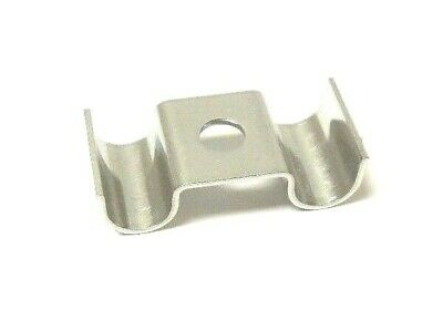 """Tubing Clamp Duplex 2 Line 1/2""""  316 Stainless Steel         634Nw"""