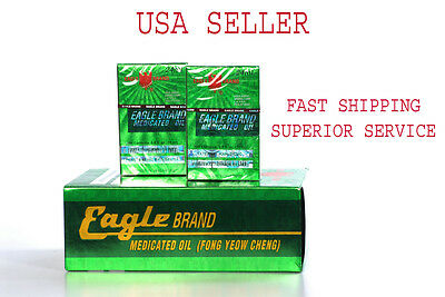 Eagle Brand Medicated Oil, Dau Gio Xanh 12 Bottles (12 X 24ml)