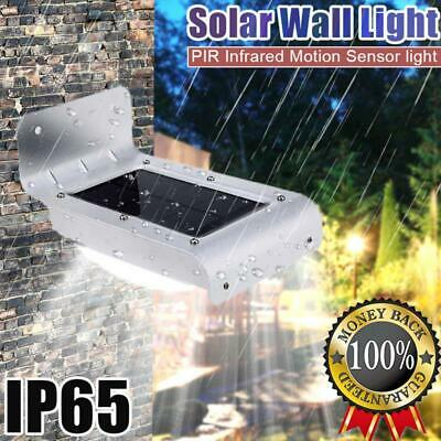 16-LED Solar Powered PIR Motion Sensor Garden Security Light Wall Lamp Outdoor