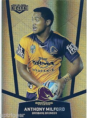 2015 NRL Elite Parallel Special Gold (PS6) Anthony MILFORD Broncos