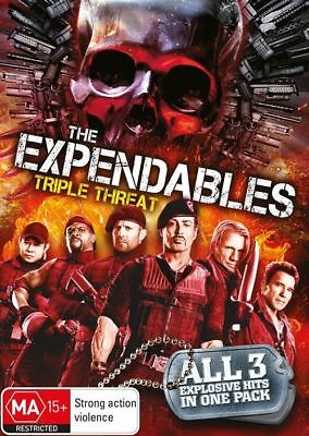 "The Expendables 1, 2 & 3 Trilogy DVD New R4 Sylvester Stallone ""ON SALE"""