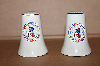 1964 d.Set of Two Boy Scouts of America National Jamboree Salt & Pepper Shakers