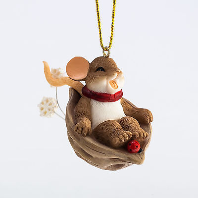 Charming Tails Let it Slide Mouse Ornament 4046957 Christmas NEW 2015