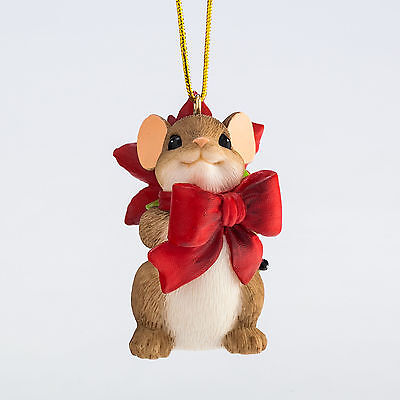 Charming Tails Pretty Little Gift Mouse Ornament 4046958 Christmas NEW 2015