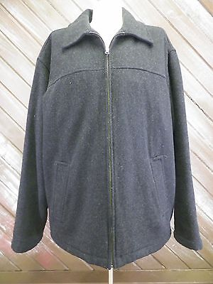 GAP Coat Jacket Wool Full Zip W Insulated Quilted Lining Men's Black ~ Sz M