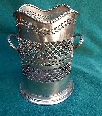 T W & Co. LTD. Sheffield English Two Handle Wine Holder   MAGNIFICENT