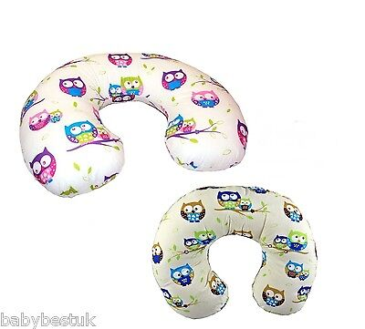 Breastfeeding Maternity Back Support Pregnancy Pillow - OWLS - PINK OR BEIGE