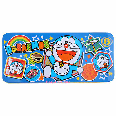 2015 Doraemon Tin Pencil Case Cartoon Print Metal Pencil Case D03-6506-1