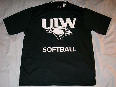 UIW University Incarnate Word Cardinals Black A4 Softball T-Shirt Adult Medium