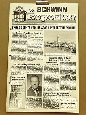 Vintage Schwinn Reporter Bicycle Dealer Newsletter June 1969 Sting Ray Pixie