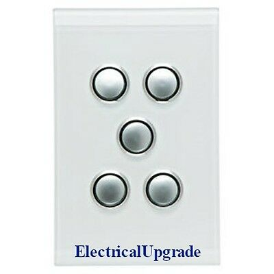 Clipsal Switches  Saturn offer 5 Gang LED push button  4065PBL PW (Pure White)