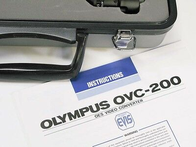 Olympus OVC-200 Endoscopic Camera OES Video Converter with Case OES Fiberscope
