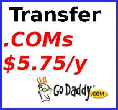 *Unlimited* GoDaddy .COM/.NET domain name transfers for $5.75/year