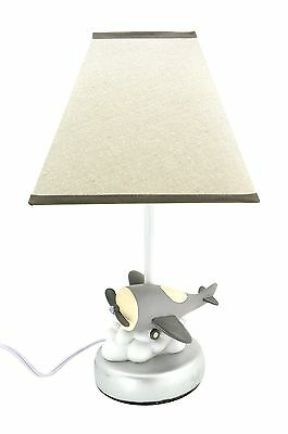 Cocalo Baby Kent Lamp Base & Shade Airplane with Energy Efficient Light Bulb