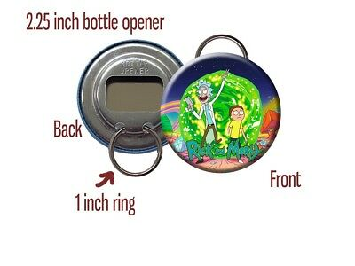 Rick and Morty Adult Swim TV Show Comedy Sci-Fi Bottle Opener / Keychain