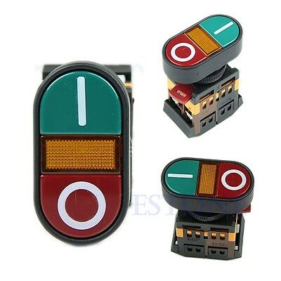 ON OFF Red Green Light Indicator Momentary Switch Power Start Stop Push Button