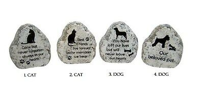 9cm Pet Memorial Garden RIP Stone for your Cat or Dog