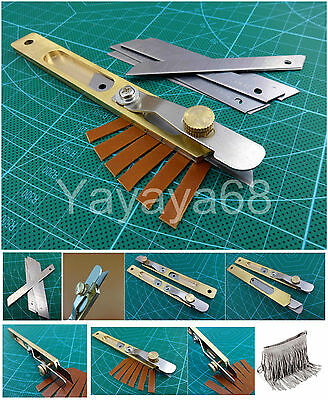 Leather Craft Leather Line Strip Knife Copper Trimming Knife Tool +10pcs Blades