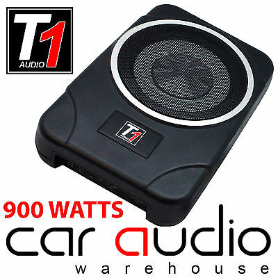 T1 AUDIO T1-20ACT 900 Watts Amplified Under Seat Flat Slimline Car Sub Subwoofer