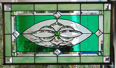 """Stained Glass Window Hanging 24 X 14"""""""