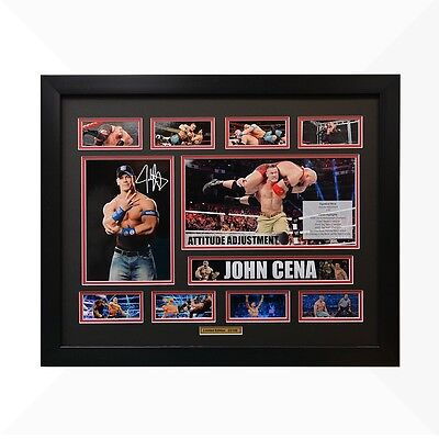 John Cena WWE Signed & Framed Memorabilia - Black/Red Limited Edition