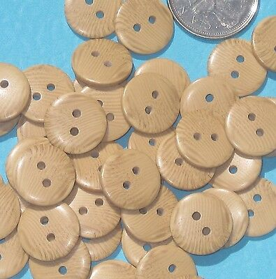 lot 44 new WOOD wooden set buttons grain apparent 16 mm 5/8""