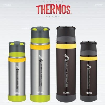 Thermos Ultimate Stainless Steel Flask MKII 500ml/900ml Charcoal/Gun Metal