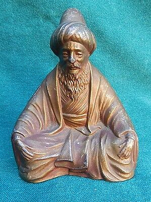 Orientalist Vienna Circa 1900 Statue Of The Man In Metalware RARE
