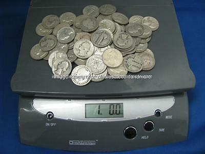 One Pound 90% Silver Quarters Pre-1965 70+Coins No Junk