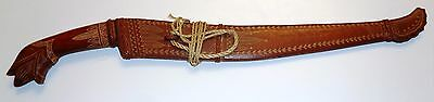 Word War 2 WWII WW2 Antique Military Sword Dagger Case Folk Art