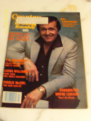 Bill Anderson Covers Country Song Roundup Magazine March 1983 T G Sheppard