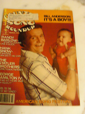 Bill Anderson Covers Country Song Roundup Magazine March 1979 Hank Snow
