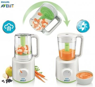 NEW Philips AVENT SCF870 Combined ALL in ONE Baby Food Steamer Flip Blender