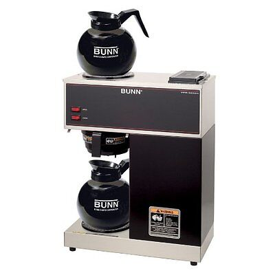 BUNN Commercial Restaurant - Bar - 12 CUP Coffee Brewer -Maker - 2 Decanters -