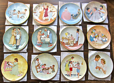 Norman Rockwell Plates: The American Family Series 1;  All 12! Very Nice Cond.