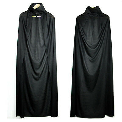 Black Vampire  Cape Horror Halloween Fancy Dress Gothic Witch Cloak
