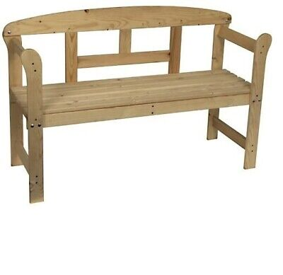 Garden Bench Hardwood Outdoor Home Wooden 2 Seat Seater Furniture Patio Park New