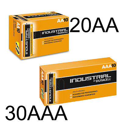 20 Aa + 30 Aaa Duracell Battery Industrial Batteries Long Life Expiry 2020