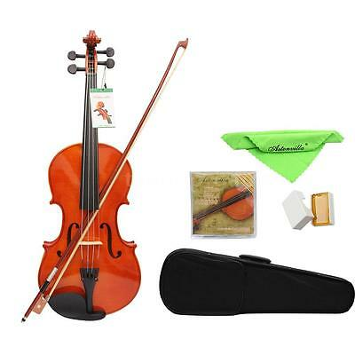 "New 2015 Adults Student 16"" Acoustic Viola + Case + Bow + Rosin + Strings 1RK5"
