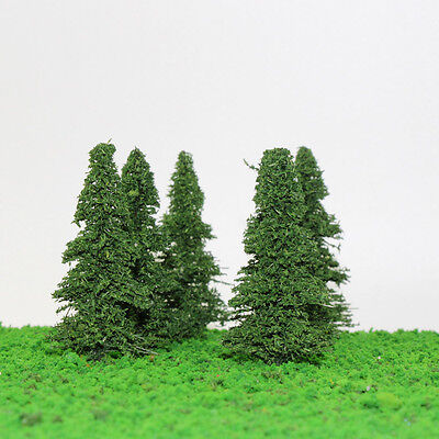 S0403 20pcs 9cm  Model Train Pine Trees Railroad  Scenery Layout TT HO Scale NEW