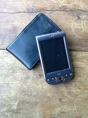 HP 110 Classic Handheld with leather casing