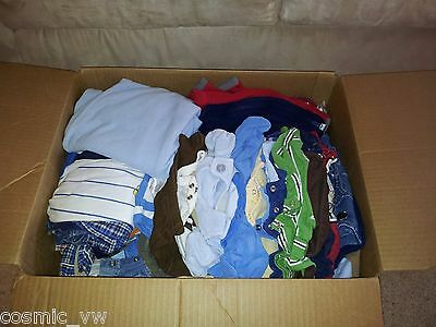HUGE 6-9 Month Baby Boy Lot of Shirts, Pants, Overalls, Shorts, Outfits. 58 pcs