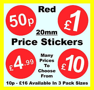 now  Price Point Stickers 1000 Bright Red 20 x 50mm SALE was Sticky Labels