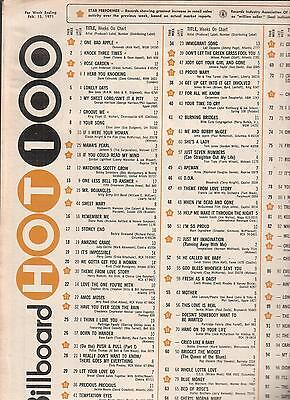 Osmonds- One Bad Apple #1 on Billboard Hot 100 Singles Chart  Feb 13 1971