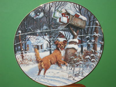 """Schmid 1983 Lowell Davis Plate """"Country Xmas""""  Signed"""