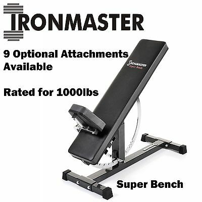 IRONMASTER Super Bench Weight Sit Up Gym FID Workout Press